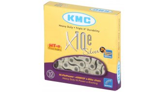 KMC X10e EcoProTeQ chain for E-Bikes 10 speed link silver (for MTB, road bike, Cyclocross, trekking )