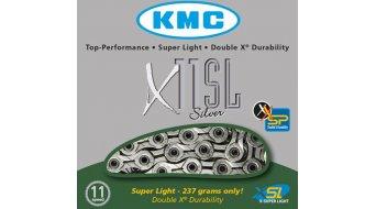 KMC X11 SL Kette Fahrradkette 11-fach 118-Glieder silber (für MTB, Rennrad, Cyclocross)