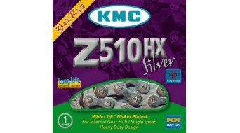 KMC Z510HX велосипедна верига главина предавки верига за фиксита с една предавка 112-връзки сребристо, (за BMX, Lastenвелосипеди)