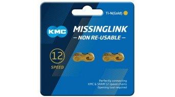 KMC Kettenschloss MissingLink 12-fach Non-Re-Usable Ti-N gold