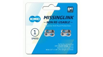 KMC Kettenschloss MissingLink Z1eHX Wide Non-Re-Usable EPT silver