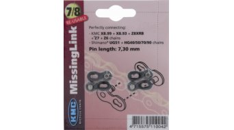 """KMC Kettenschloss MissingLink 7/8s 7.3mm 1/2""""x3/32"""" silber"""