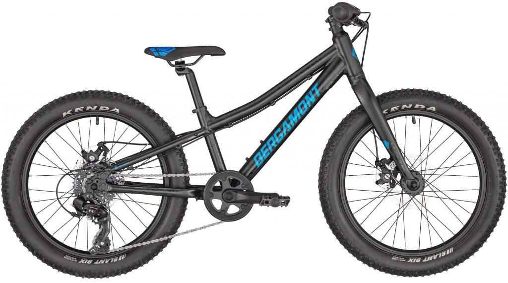 """Bergamont Bergamonster 20 Plus 20"""" Kinderkomplettrad Gr. 26 cm flaky anthracite/black/blue (matt/shiny) Mod. 2020"""