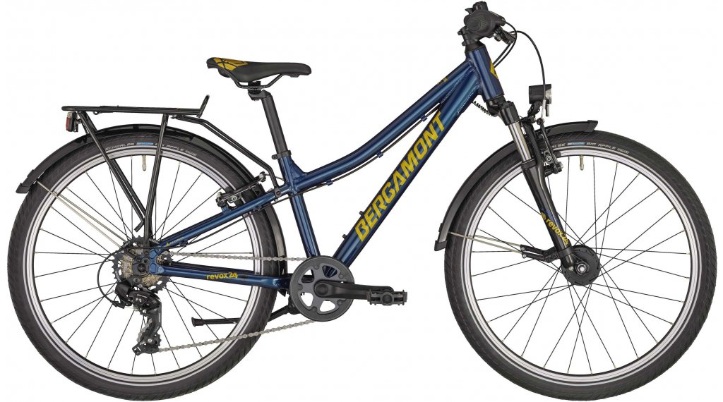 "Bergamont Revox ATB 24 Boy 24"" Komplettrad Kinder Gr. 31cm petrol blue/gold (shiny) Mod. 2020"