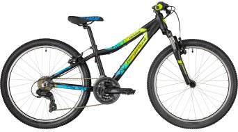 "Bergamont Revox 24 Boy 24"" kids bike size 32cm black/neon yellow/cyan (matt) 2018"