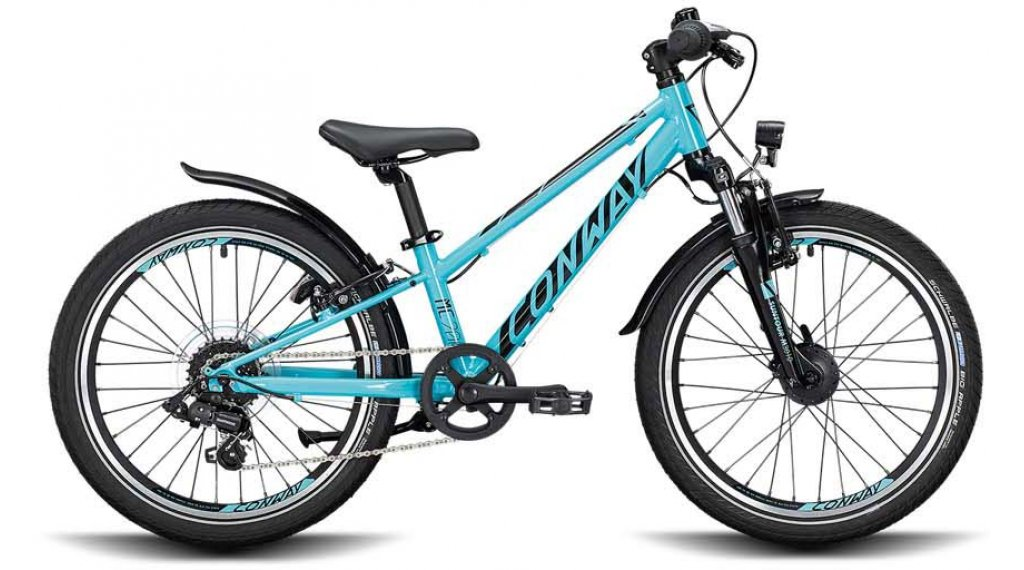"Conway MC 200 20"" MTB bici completa bambini mis. 23cm turchese/nero mod. 2021"