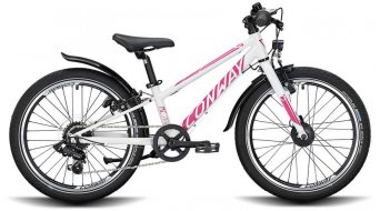 "Conway MC 200 Rigid 20"" MTB bike kids size 23cm white/pink 2021"