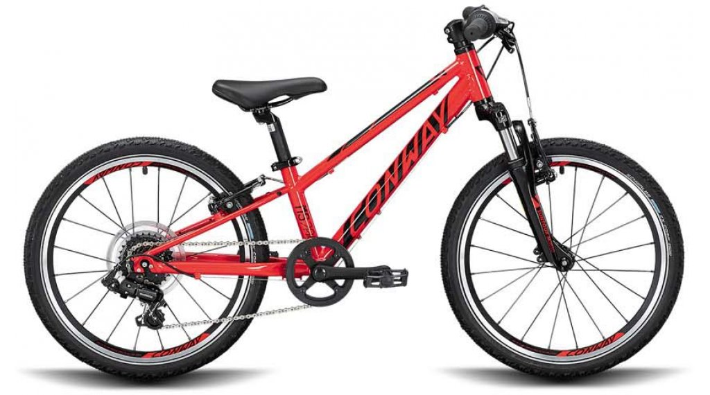 "Conway MS 200 20"" MTB Komplettrad Kinder Gr. 23cm red/black Mod. 2020 - VORFÜHRTEIL"