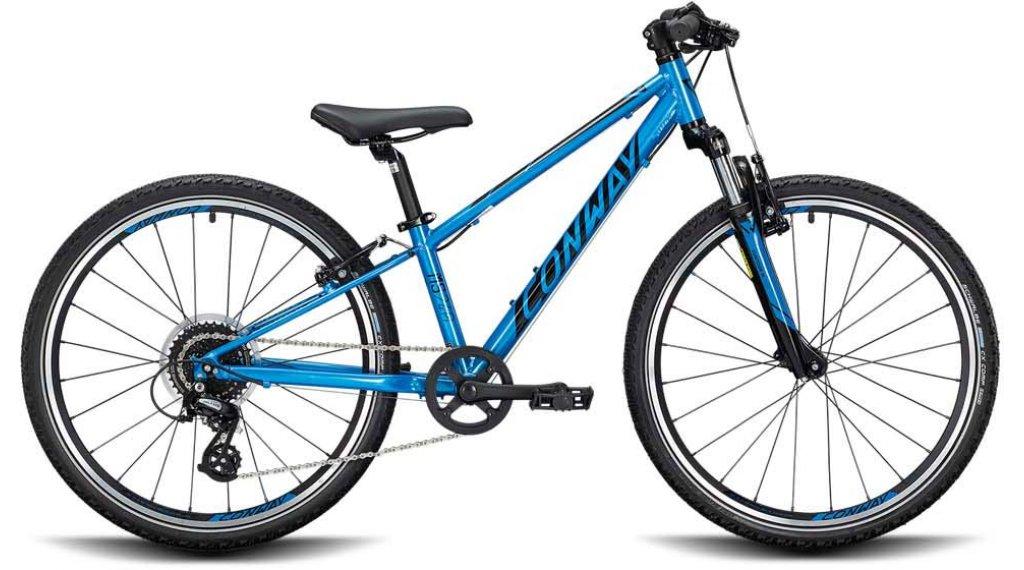 """Conway MS 240 24"""" MTB(山地) 整车 儿童 型号 28厘米 blue/black 款型 2020"""