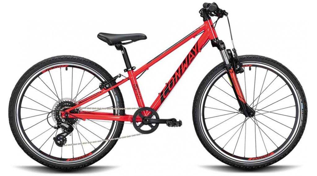 """Conway MS 240 24"""" MTB(山地) 整车 儿童 型号 28厘米 red/black 款型 2020"""