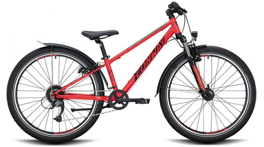"Conway MC 260 26"" MTB Komplettrad Kinder Gr. 31cm red/black Mod. 2021"