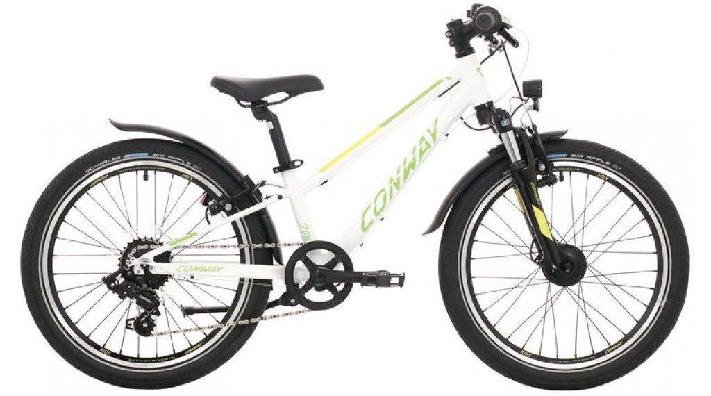 "Conway MC 200 20"" MTB bici completa bambini mis. 23cm bianco/verde mod. 2021"