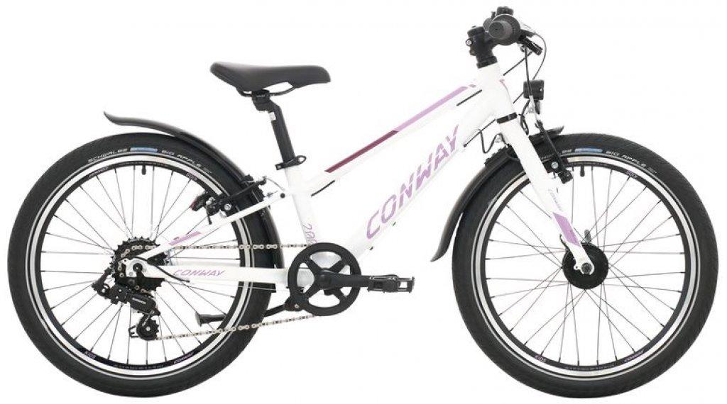 "Conway MC 200 20"" MTB Komplettrad Kinder Gr. 23cm white/purple Mod. 2020"