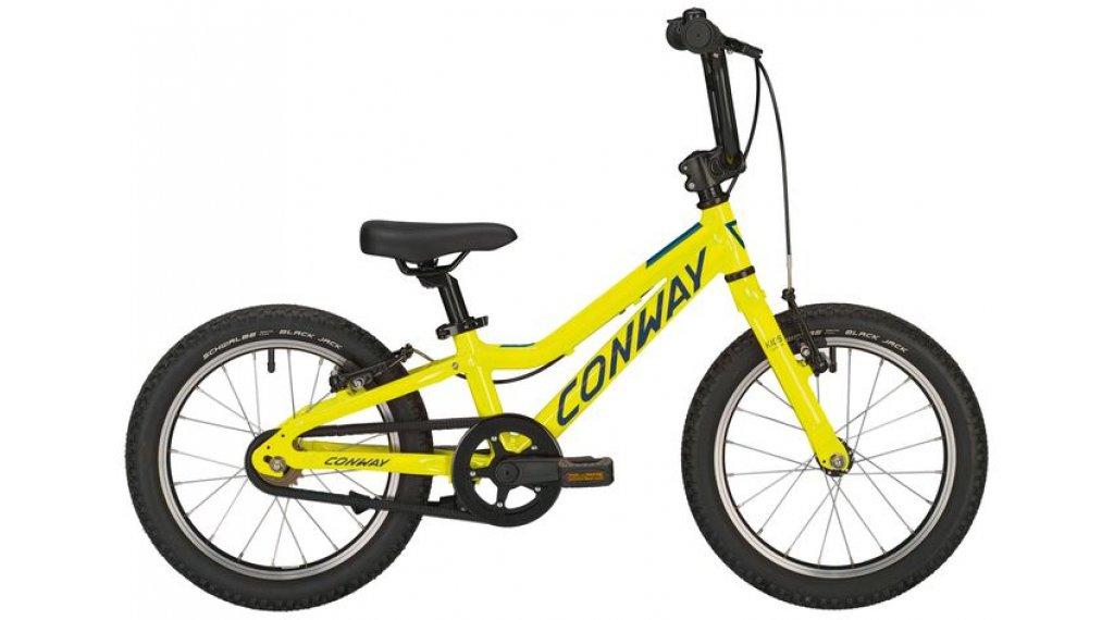 """Conway MS 16 16"""" MTB bicicletta completa per bambini mis. 20cm lime mod. 2019"""