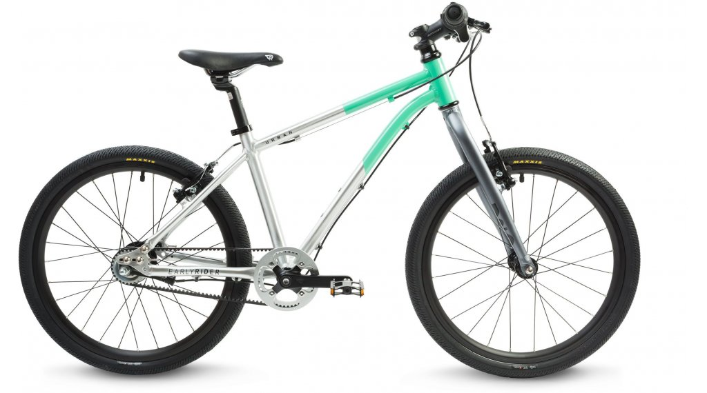 "Early Rider Hellion Urban 20 Kinderrad 20"" 3-Gang brushed aluminium/cyan"