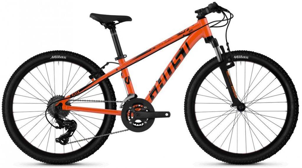 """Ghost Kato 2.4 AL U 24"""" MTB bici completa bambini mis. unisize monarch arancione/jet nero mod. 2020"""