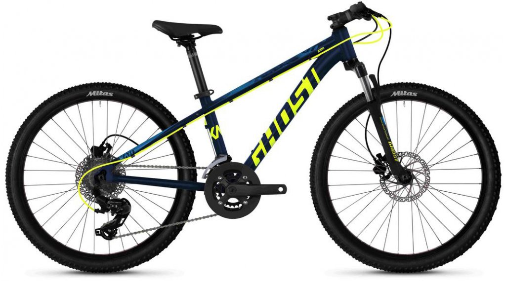 "Ghost Kato D4.4 AL U 24"" MTB(山地) 整车 儿童 型号 均码 night blue/neon yellow/riot blue 款型 2020"