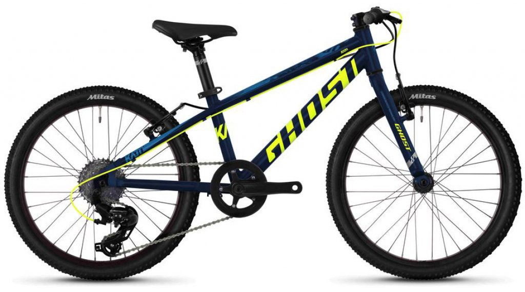 "Ghost Kato R1.0 AL U 20"" MTB(山地) 整车 儿童 型号 均码 night blue/neon yellow/riot blue 款型 2020"
