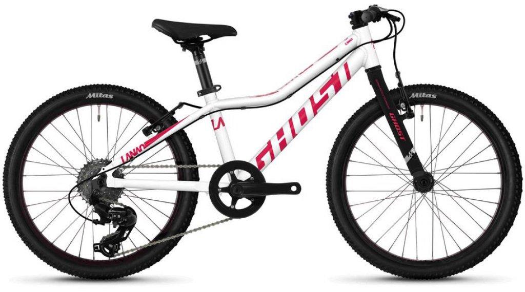 """Ghost Lanao R1.0 AL W 20"""" horské kolo dětské univerzální velikost star white/ruby pink model 2020"""