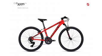 "Ghost Kato 2.4 AL en 24"" MTB fiets Jungen-fiets (of wiel) unisize neon red/night black model 2018"