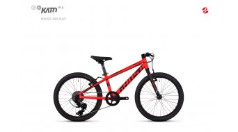 "Ghost Kato R1.0 AL U 20"" VTT vélo Jungen-roue taille unique neon red/night black Mod. 2018"