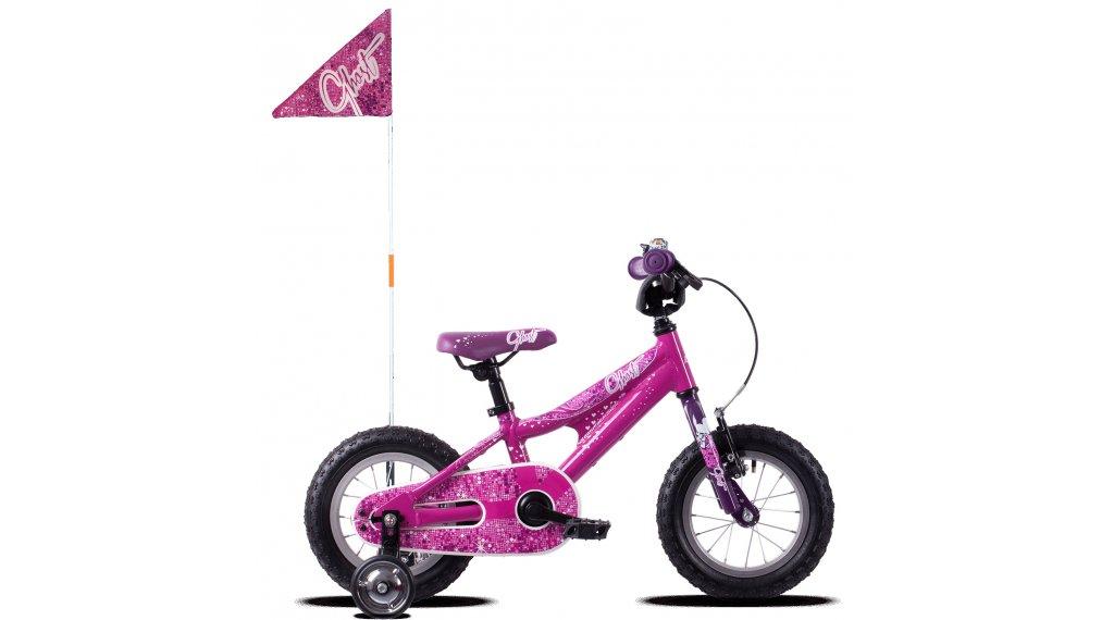 """Ghost Powerkid AL 12"""" komplett kerékpár gyermek Méret unisize sötét fuchsia pink/violet/star white 2019 Modell"""
