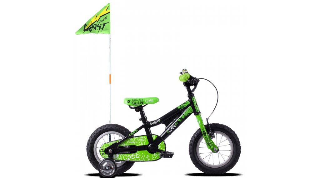 "Ghost Powerkid AL 12"" bici completa bambini mis. unisize night nero/riot verde/star bianco mod. 2020"