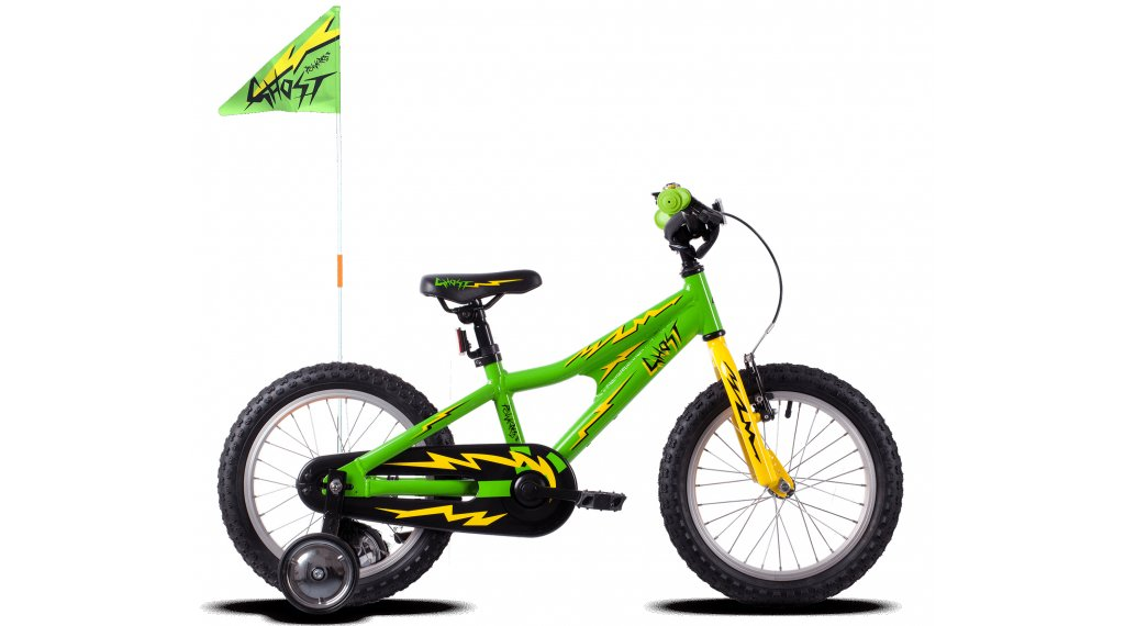 Ghost Powerkid AL 16 bike kids size  unisize riot green/cane yellow/night black 2021