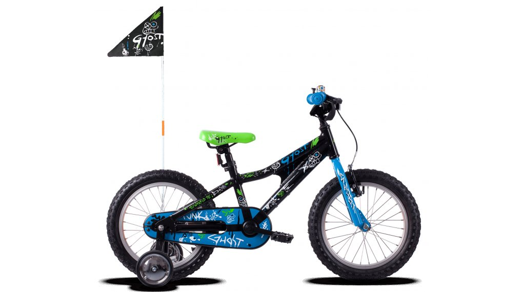 Ghost Powerkid AL 16 bike kids size  unisize night black/riot blue/star white 2021