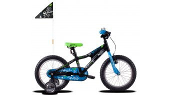 "Ghost Powerkid AL 16"" Komplettrad Kinder Gr. unisize night black/riot blue/star white Mod. 2020"