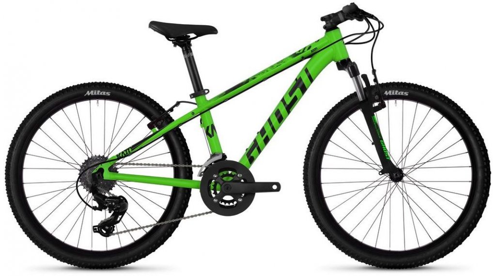 "Ghost Kato Kid 2.4 AL U 24"" MTB(山地) 整车 儿童 型号 均码 riot green/jet black 款型 2019"