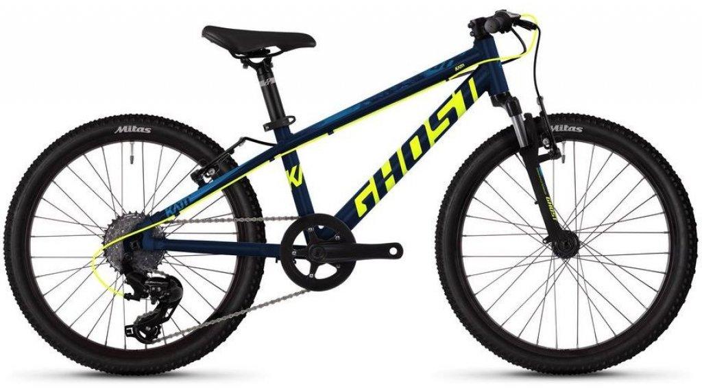"""Ghost Kato Kid 2.0 AL U 20"""" MTB komplett kerékpár gyermek Méret unisize night blue/neon yellow/riot blue 2019 Modell"""