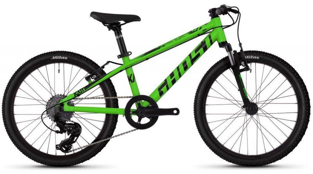 """Ghost Kato Kid 2.0 AL U 20"""" MTB komplett kerékpár gyermek Méret unisize riot green/jet black 2019 Modell"""