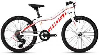 "Ghost Lanao Kid R1.0 AL W 20"" MTB Komplettrad Kinder Gr. unisize star white/neon red/juice orange Mod. 2019"
