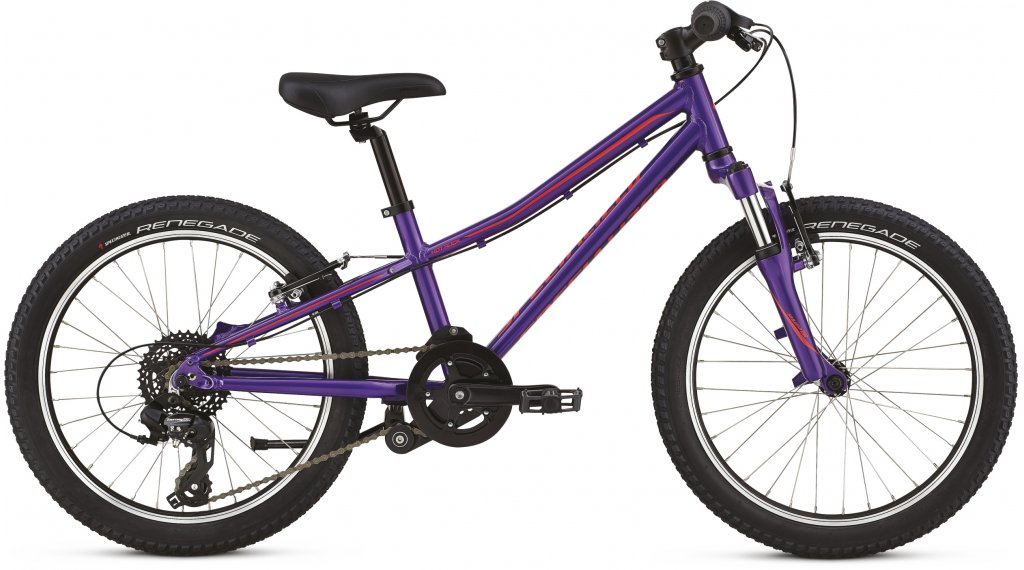 "Specialized Hotrock 20"" MTB Komplettrad Kinder Gr. 22.9cm (9"") purple haze/black/acid red Mod. 2020"