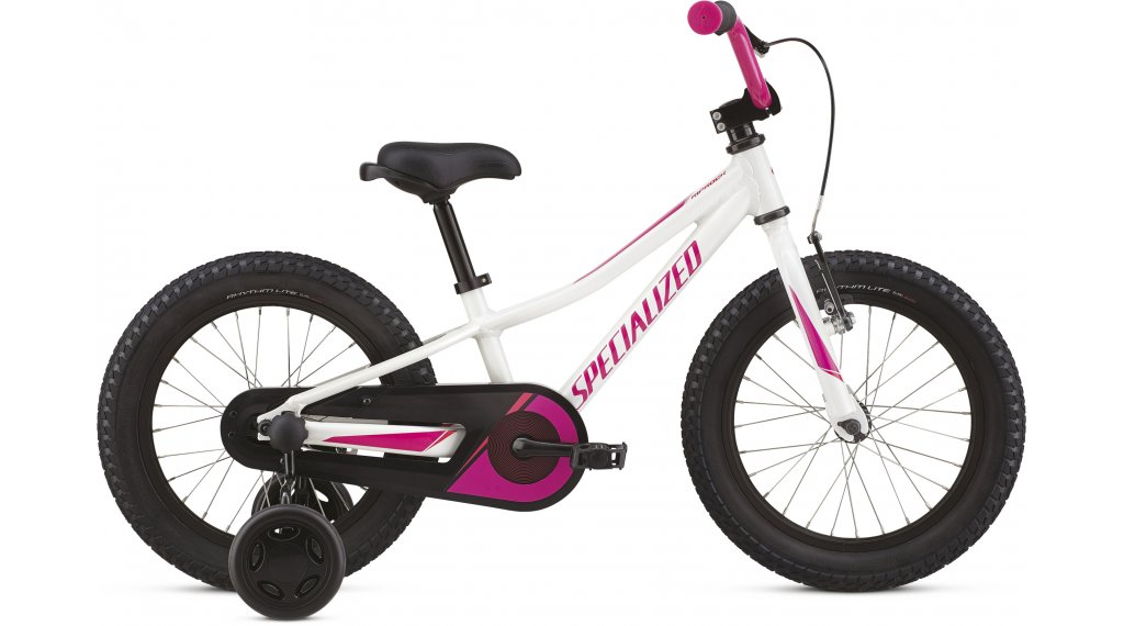 Specialized Riprock Coaster 16 MTB bici completa bambini mis.  unisize   metallico  bianco  argento/acid purple mod. 2021