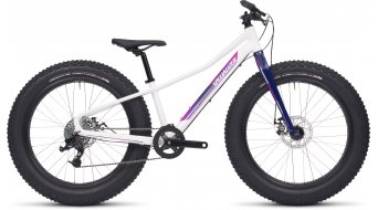 Specialized Fatboy 24 fatbike bike kinderfiets maat 30,5cm (12) gloss white/pink/deep fuschia/deep indigo model 2017