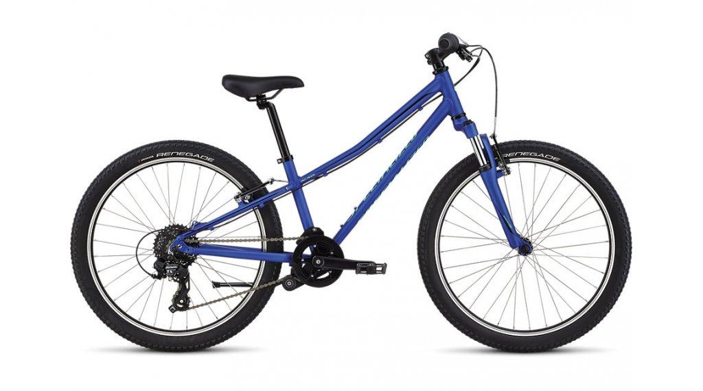 """Specialized Hotrock 24"""" MTB(山地) 整车 儿童 型号 27.9厘米 (11"""") acid blue/black 款型 2020"""