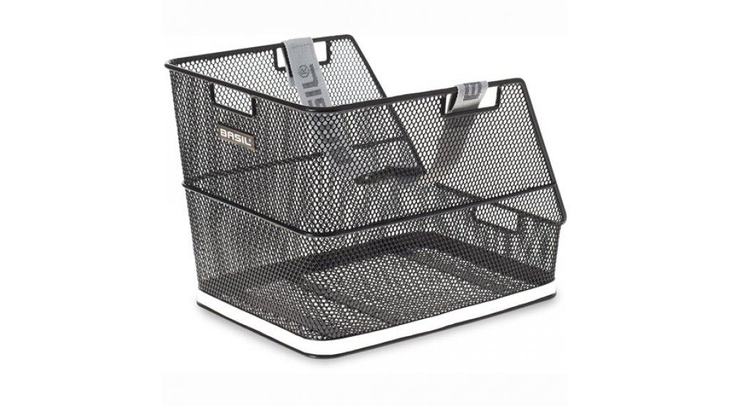 Basil Class Fixed Gepäckträgerkorb für Schultaschen Stahl schwarz