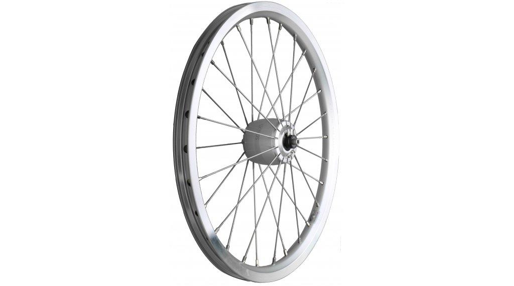"""SON XS Brompton 16"""" (349x17) 287## front wheel 28- spokes hub silver, hollowkammer rim silver"""