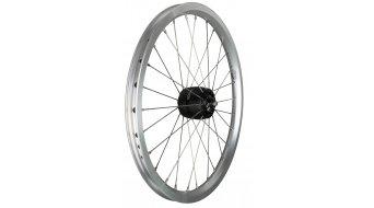 SON XS Brompton 16 (349x17) rueda completa rueda delantera 28-radios buje color Hohlkammerfelge color plata
