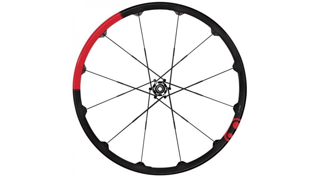 """CrankBrothers Opium 3 29"""" MTB Disc set ruote ant+post 20x110mm / 12x157mm nero/rosso mod. 2019"""