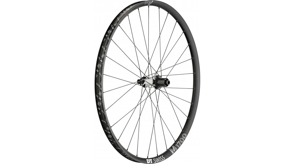 "DT Swiss M 1700 Spline Black 29"" Laufrad Hinterrad 30mm-Felgenbreite Center Lock 142x12mm Shimano HG-Freilauf"