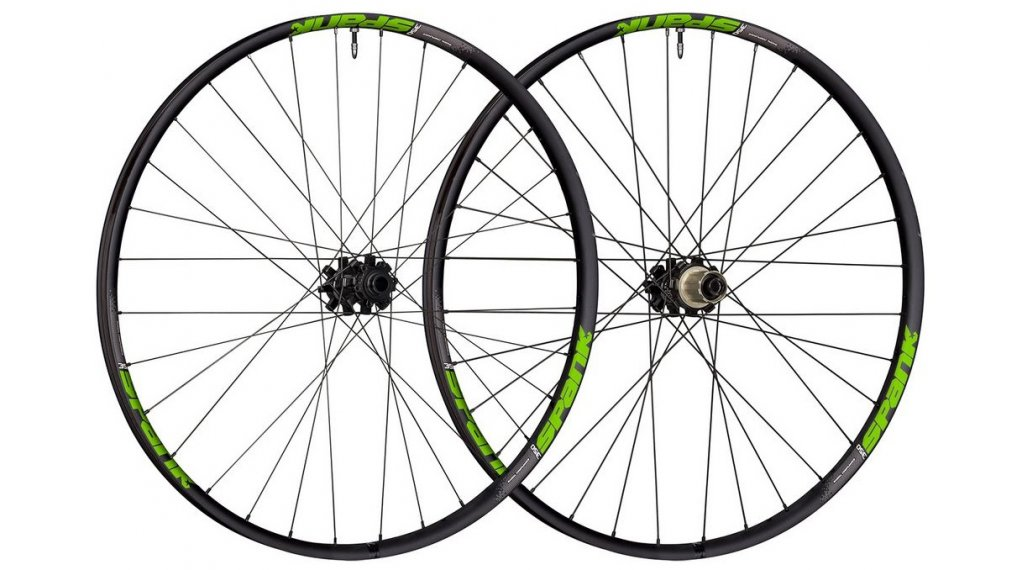 Spank 350 Disc 27.5 juego de ruedas Boost 15x110mm/12x148mm SRAM XD piñon libre negro/verde
