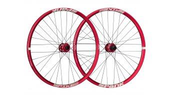 """Spank Spike Race33 DH 26"""" Disc Laufradsatz Shimano-Freilauf VR: 20x110mm / HR:12x135mm red"""