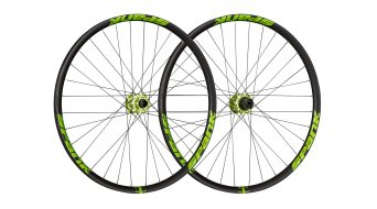 """Spank Spike Race33 DH 27.5"""" Disc Laufradsatz Shimano-Freilauf VR: 20x110mm / HR:12x135mm black/green"""