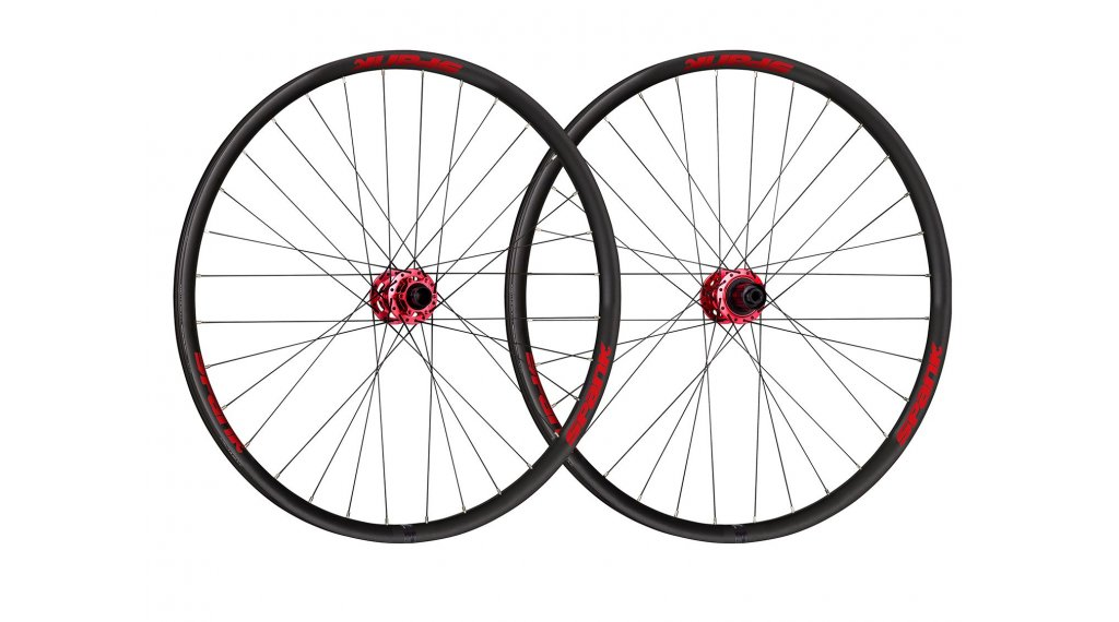 """Spank Spike Race33 DH 27.5"""" Disc Laufradsatz SRAM-Freilauf Boost VR: 20mm / HR:12x148mm black/red"""