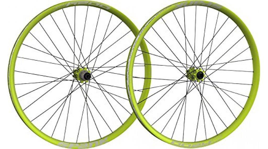 "Spank Oozy Trail-395+ 27.5"" Disc Laufradsatz Shimano-Freilauf VR: 15x100+20x110mm / HR: QR+12x135mm+12x142mm emerald green"