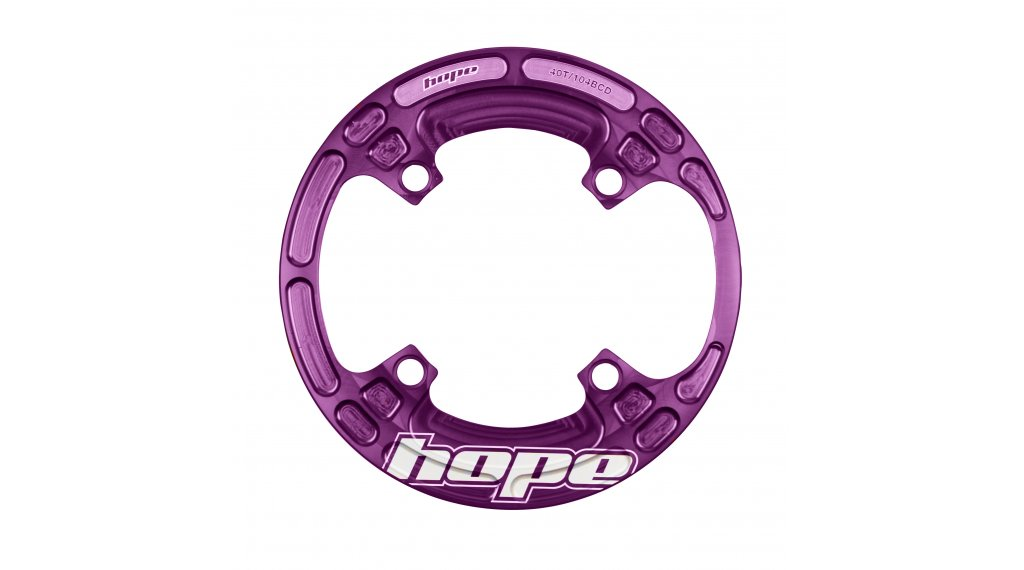 Hope Lightweight Bash Guard 40T 4 fori (104mm) purple