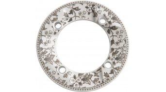 Truvativ RockGuard Rockring 4-Arm (104mm) weiß + Blumenmuster